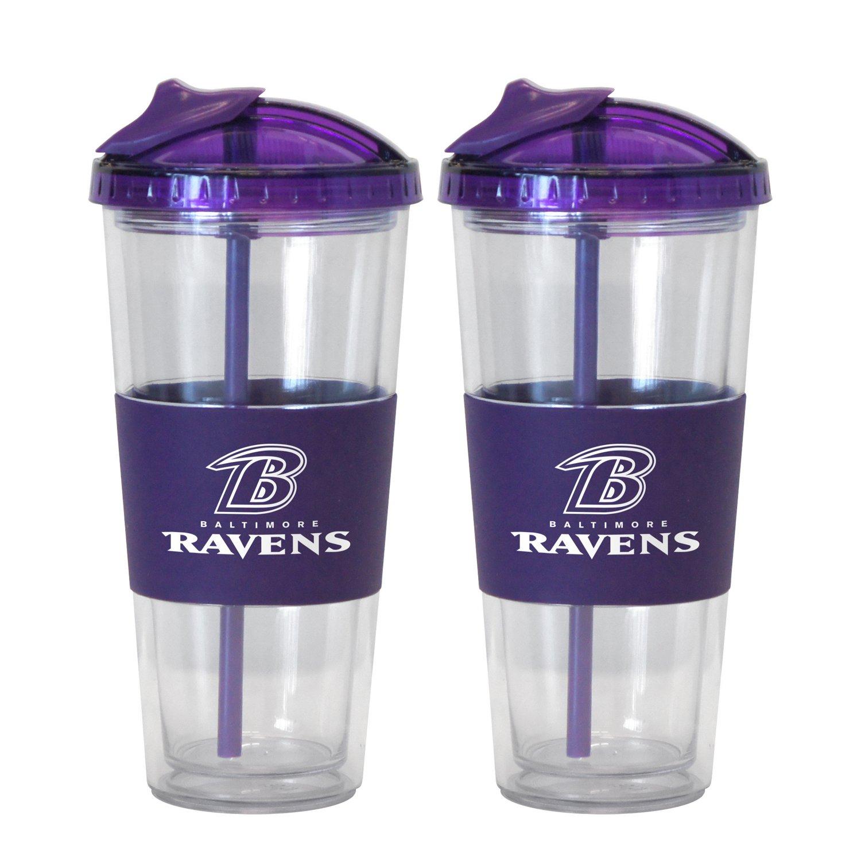 Boelter Brands Baltimore Ravens 22 oz. No-Spill Straw