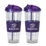 Boelter Brands Baltimore Ravens 22 oz. No-Spill Straw Tumblers 2-Pack