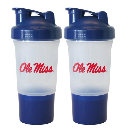 Boelter Brands University of Mississippi 16 oz. Protein Shakers 2-Pack
