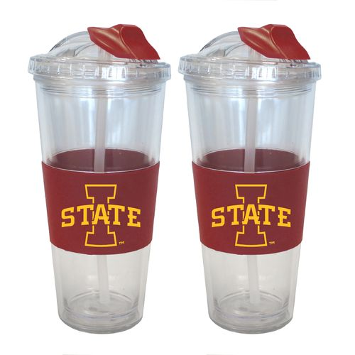 Boelter Brands Iowa State University 22 oz. No-Spill Straw Tumblers 2-Pack