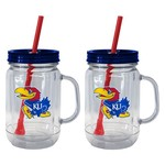 Boelter Brands University of Kansas 20 oz. Handled Straw Tumblers 2-Pack