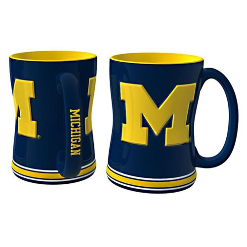 Boelter Brands University of Michigan 14 oz. Relief Mugs 2-Pack