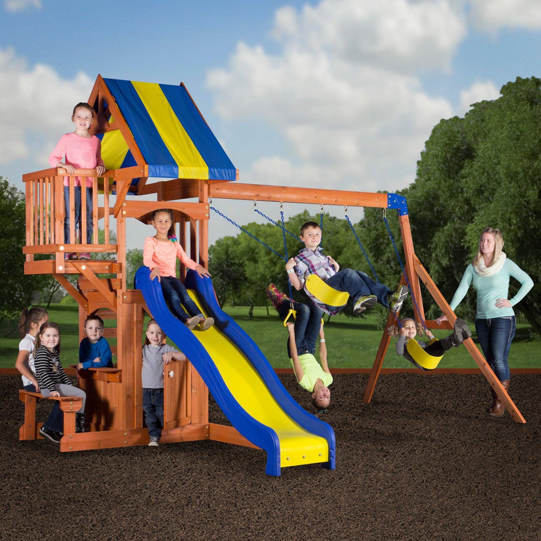Backyard Discovery™ Peninsula Wooden Swing Set - view number 2