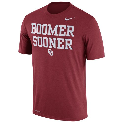 Nike Men's University of Oklahoma Legend Dri-FIT Short Sleeve T-shirt