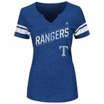 Majestic Women's Texas Rangers Success is Earned V-notch T-shirt