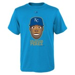 Majestic Boys' Kansas City Royals Salvador Pérez Gold Edition Emoji T-shirt
