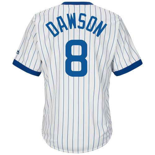 Majestic Men's Chicago Cubs Andre Dawson #8 Cooperstown Cool Base 1968-69 Replica Jersey - view number 1