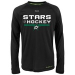 Reebok Boys' Dallas Stars Center Ice Authentic Freeze Long Sleeve T-shirt