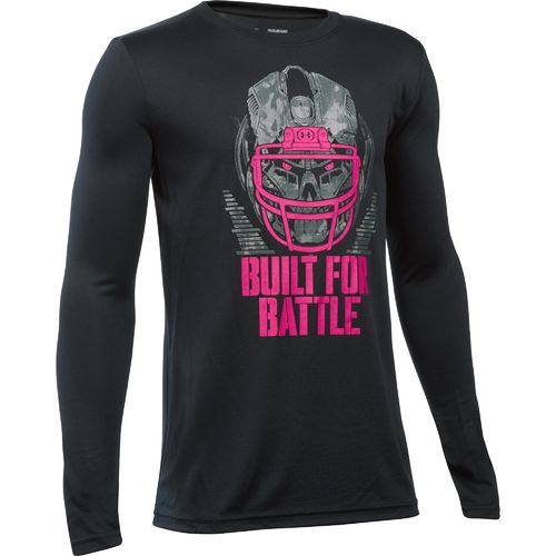 Under Armour™ Boys' Power in Pink Built for Battle Long Sleeve T-shirt