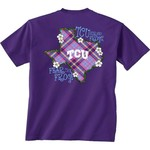 New World Graphics Women's Texas Christian University Bright Plaid T-shirt