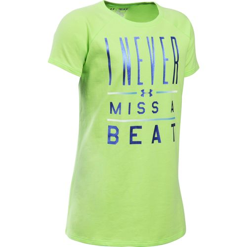 Under Armour™ Girls' I Never Miss A Beat Short Sleeve T-shirt