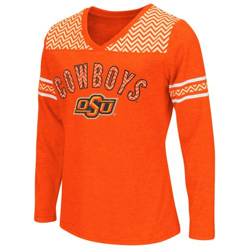 Colosseum Athletics™ Girls' Oklahoma State University Cupie Long Sleeve T-shirt