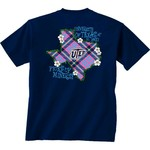 New World Graphics Women's University of Texas at El Paso Bright Plaid T-shirt
