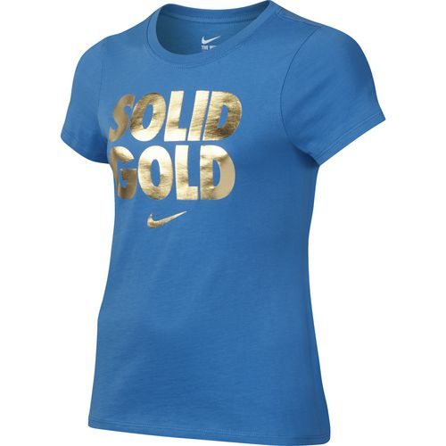 Nike Girls' Solid Gold T-shirt