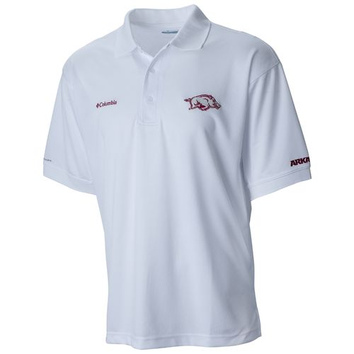Columbia Sportswear™ Men's University of Arkansas Collegiate Perfect Cast Polo Shirt