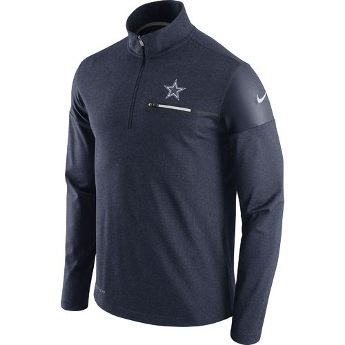 Nike Men's Dallas Cowboys Elite Coaches 1/2 Zip Hoodie