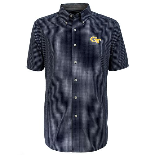 Antigua Men's Georgia Tech League Short Sleeve Shirt