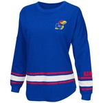 Colosseum Athletics™ Women's University of Kansas All Around Oversize Long Sleeve T-shirt