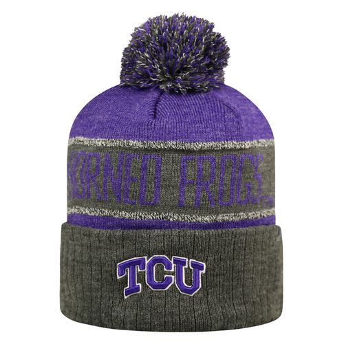 Top of the World Men's Texas Christian University Below Zero Cuffed Knit Cap
