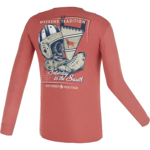 Southern Heritage Men's Saturday in the South Long Sleeve Pocket T-shirt