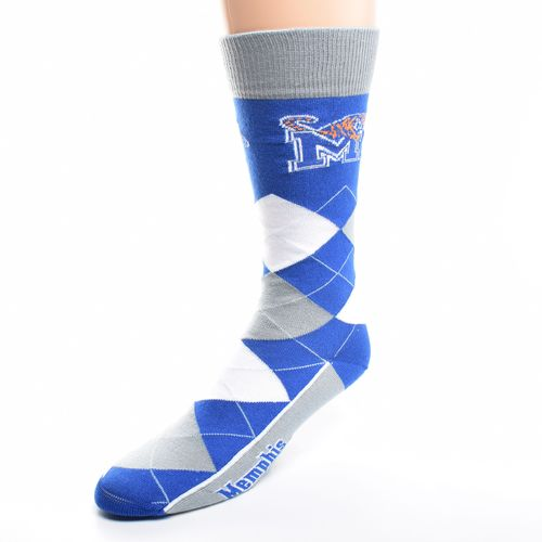 FBF Originals Adults' University of Memphis Team Pride Flag Top Dress Socks