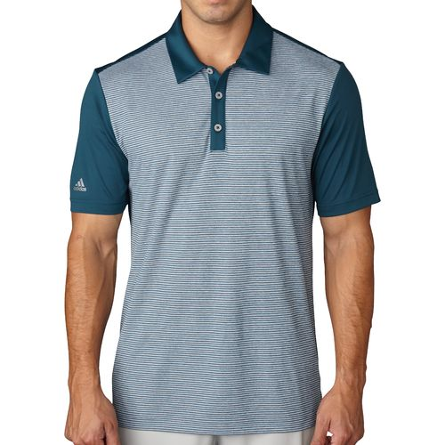 adidas™ Men's climachill™ Heather Stripe Polo Shirt