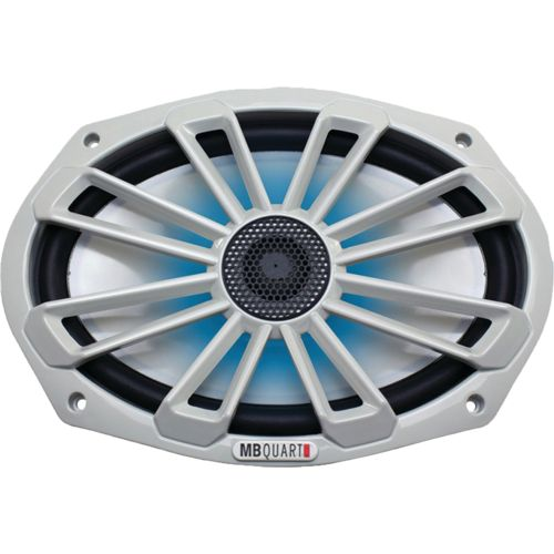 MB Quart Nautic Series 140W 6' x 9' 2-Way Coaxial Marine Speaker with LED Illumination