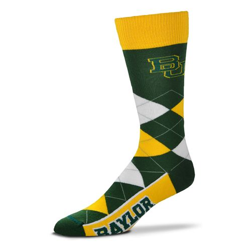 For Bare Feet Unisex Baylor University Team Pride Flag Top Dress Socks