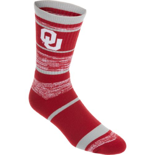 FBF Originals Men's University of Oklahoma Striped Crew Socks