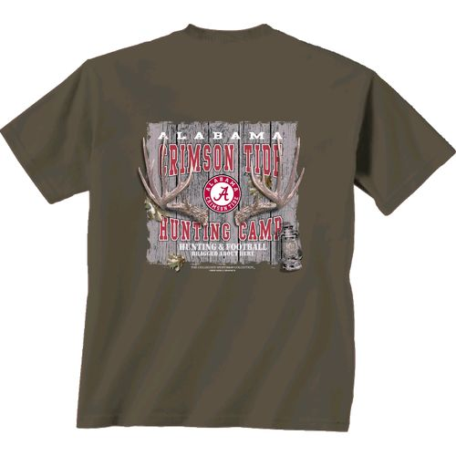 New World Graphics Men's University of Alabama Hunting Camp T-shirt