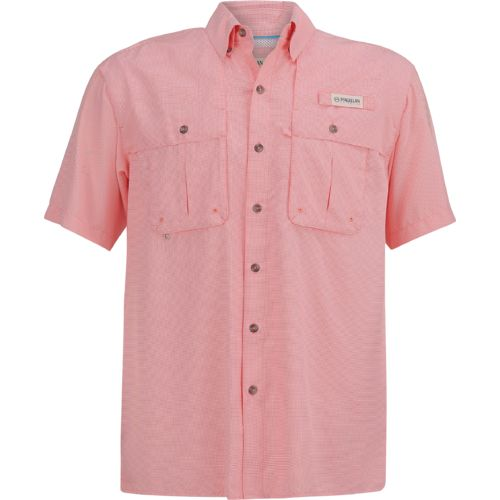 Display product reviews for Magellan Outdoors Men's Aransas Pass Mini Check Short Sleeve Shirt