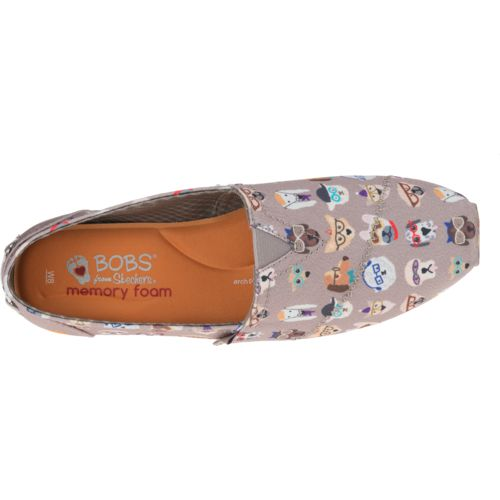skechers bobs memory foam brown