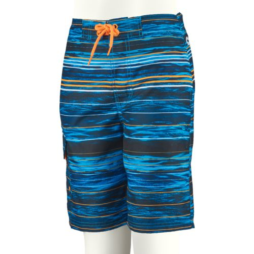 O'Rageous Boys' Abstract Stripe True Boardshort