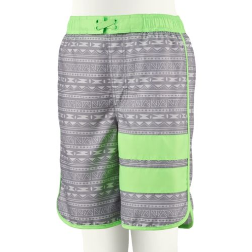 O'Rageous Boys' Geo Aztec Scalloped E-boardshort