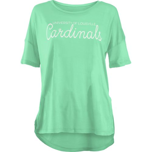 Three Squared Juniors' University of Louisville Je T'Adore V-neck T-shirt