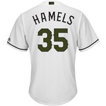 Majestic Men's Texas Rangers Cole Hamels Memorial Day COOL BASE Jersey - view number 1