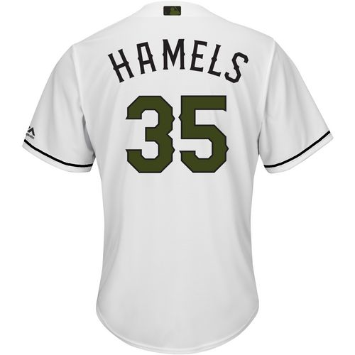 Majestic Men's Texas Rangers Cole Hamels Memorial Day COOL BASE Jersey