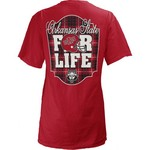Three Squared Juniors' Arkansas State University Team For Life Short Sleeve V-neck T-shirt - view number 1