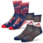 For Bare Feet Men's Atlanta Braves Father's Day Socks - view number 1