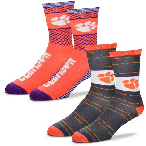 For Bare Feet Men's Clemson University Father's Day Socks