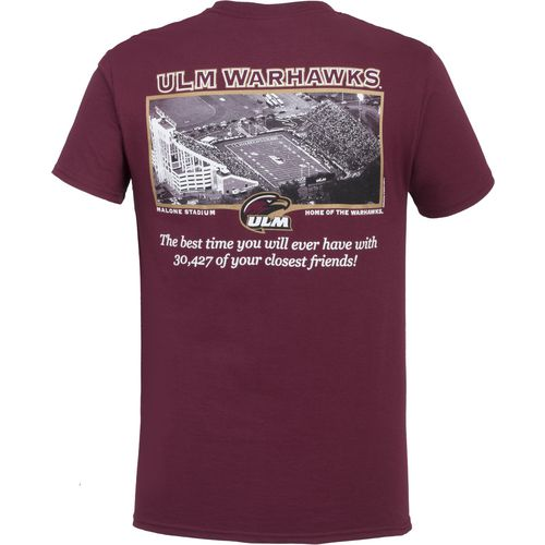 New World Graphics Men's University of Louisiana at Monroe Friends Stadium T-shirt