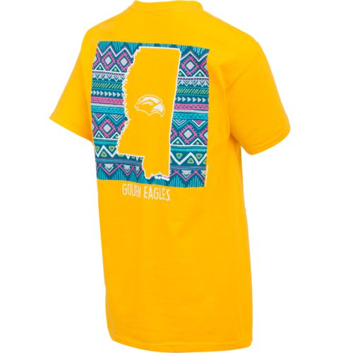 New World Graphics Women's University of Southern Mississippi Terrain State T-shirt - view number 2