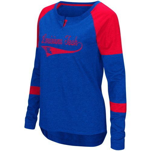 Colosseum Athletics Women's Louisiana Tech University Routine Raglan T-shirt