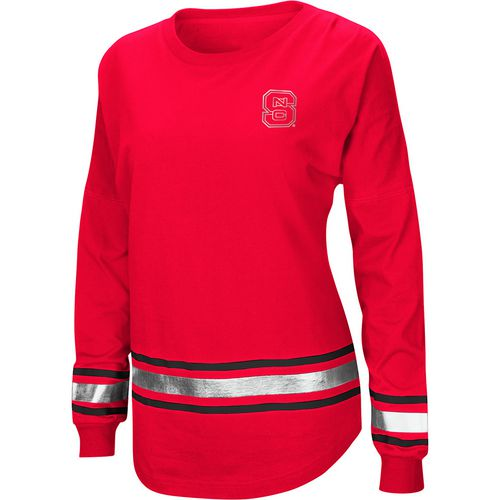 Colosseum Athletics Women's North Carolina State University Humperdinck Oversize Long Sleeve T-shirt