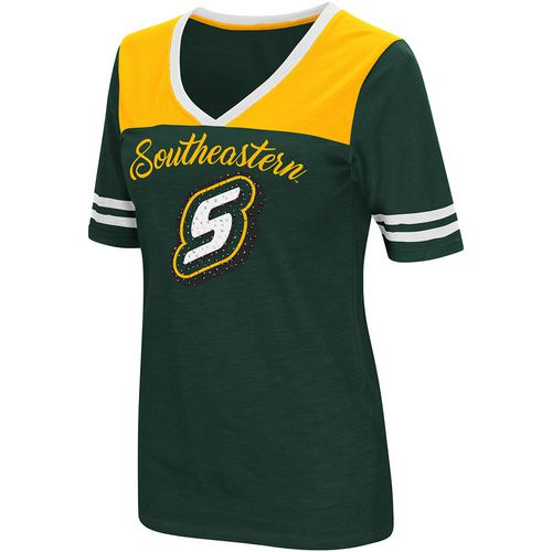 Colosseum Athletics Women's Southeastern Louisiana University Twist 2.1 V-Neck T-shirt - view number 1
