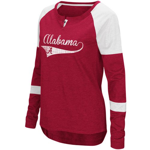 Colosseum Athletics Women's University of Alabama Routine Raglan T-shirt
