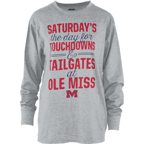 Three Squared Juniors' University of Mississippi Touchdowns and Tailgates T-shirt