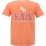 New World Graphics Women's Sam Houston State University Comfort Color Initial Pattern T-shirt - view number 1