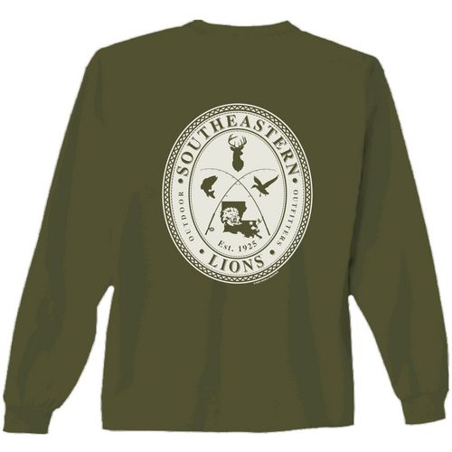 New World Graphics Men's Southeastern Louisiana University Crossed Oval Long Sleeve T-shirt