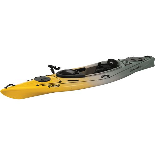 Evoke conquer 120 12 ft fishing kayak academy for Academy sports fishing kayaks